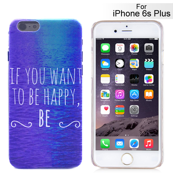 Slicoo iPhone 6 Plus / 6S Plus kryt If You Want To Be Happy