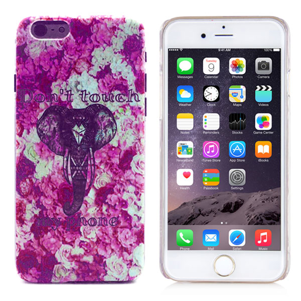 Kryt pre iPhone 6 / 6S Do Not Touch My Phone Little Cute Elephant