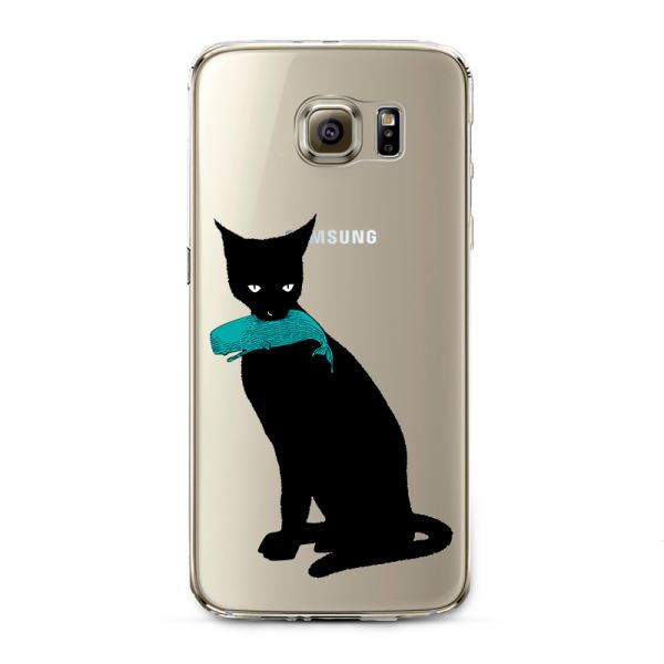 Kryt pre Samsung Galaxy S6 Cat with fish