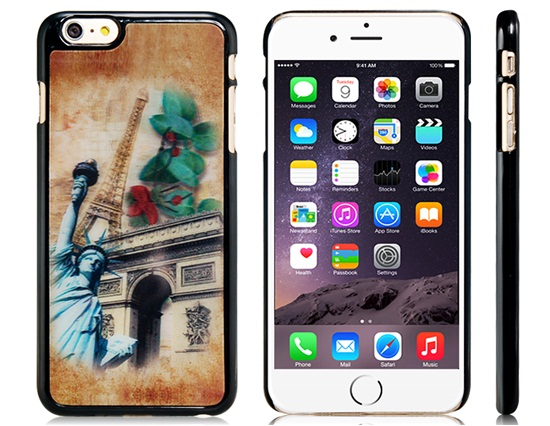 Slicoo iPhone 6 Plus / 6S Plus kryt 3D Statue of Liberty & Arc de Triomphe