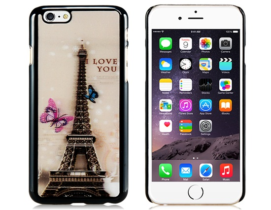 Slicoo iPhone 6 Plus / 6S Plus kryt 3D Butterfly & Eiffel Tower