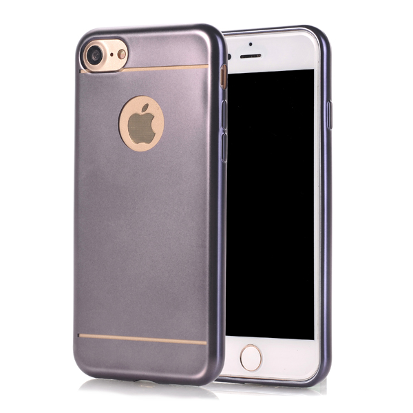 Kryt pre iPhone 7 / 8 Luxury Plated sivý
