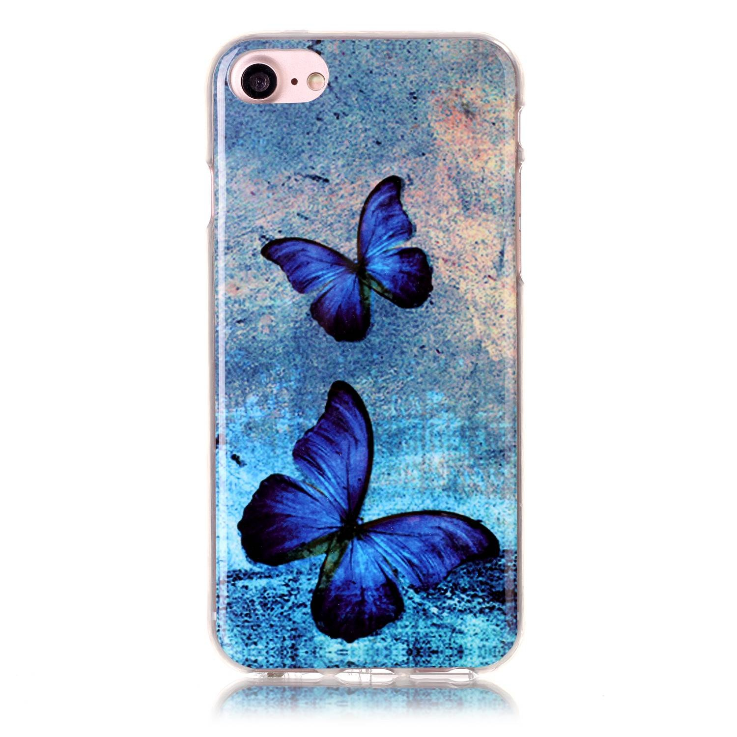 Slicoo iPhone 7 kryt Blue butterflies