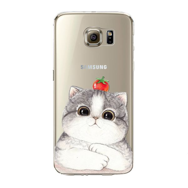 Kryt pre Samsung Galaxy S6 Strawberry cat
