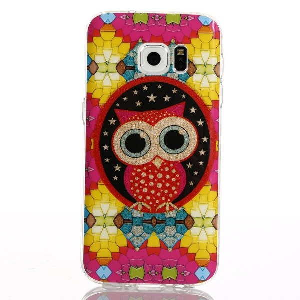 Kryt pre Samsung Galaxy S7 Edge Cute Colored Blocks Owl