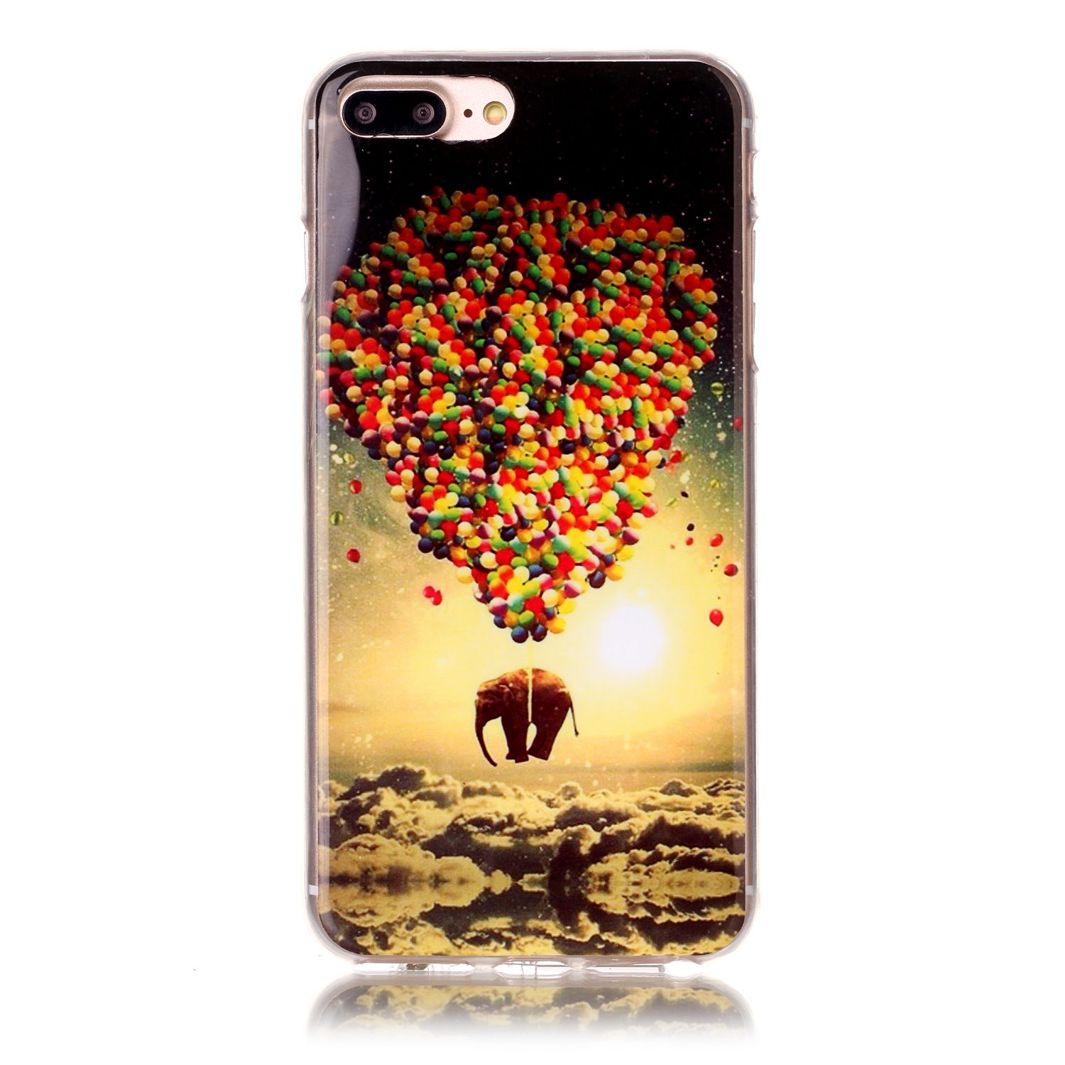 Kryt pre iPhone 7 Plus / 8 Plus Carrying balloons elephant