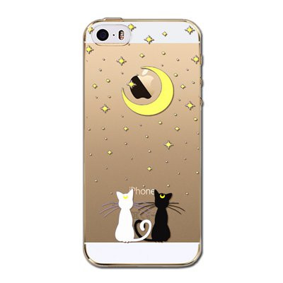 Slicoo iPhone 5 / 5S / SE kryt Cats moon
