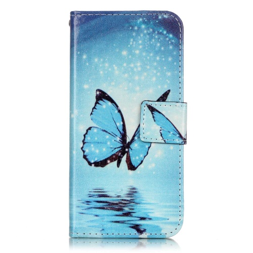 Puzdro pre iPhone 7 / 8 Bling Blue Butterfly