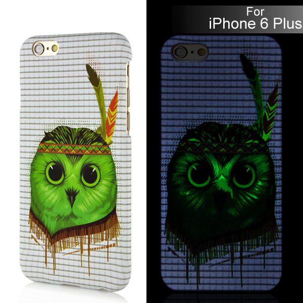 Luminous iPhone 6 Plus / 6S Plus kryt svítící Green Owl