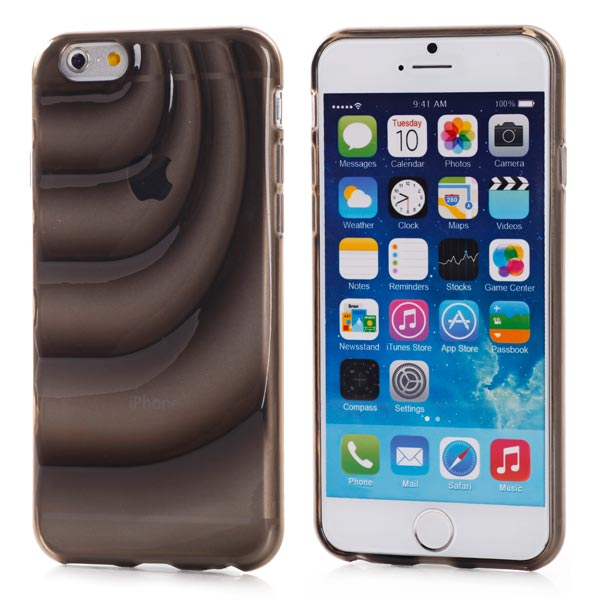 Slicoo iPhone 6 Plus / 6S Plus kryt Water Wave TPU čierny