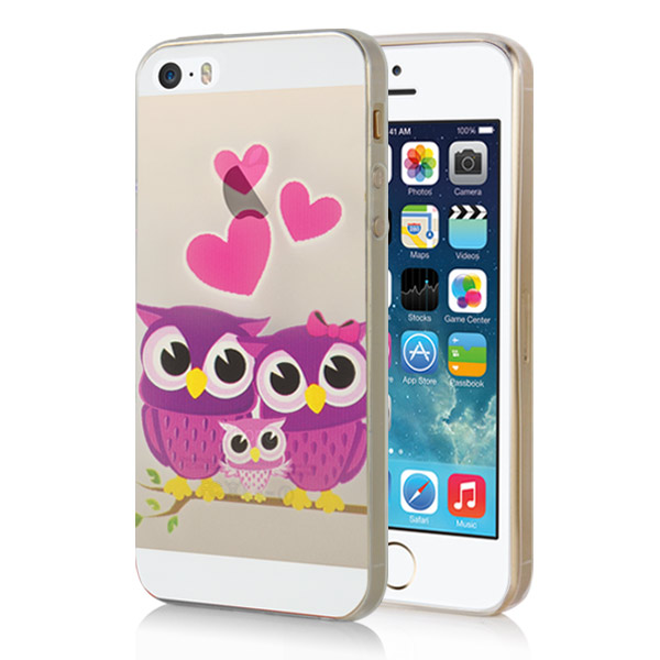 Slicoo iPhone 5 / 5S / SE kryt Happy Owl Family