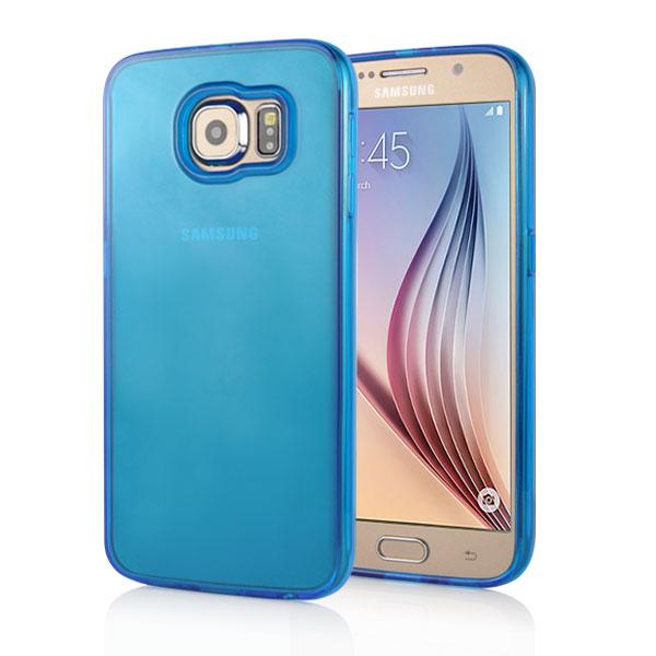 Kryt pre Samsung Galaxy S6 Transparent modrý empty df918a3c8cc