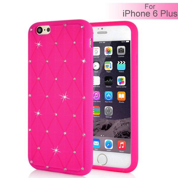Slicoo iPhone 6 Plus   6S Plus kryt Rhinestone silikónový ružový empty 45f2e1cbac2