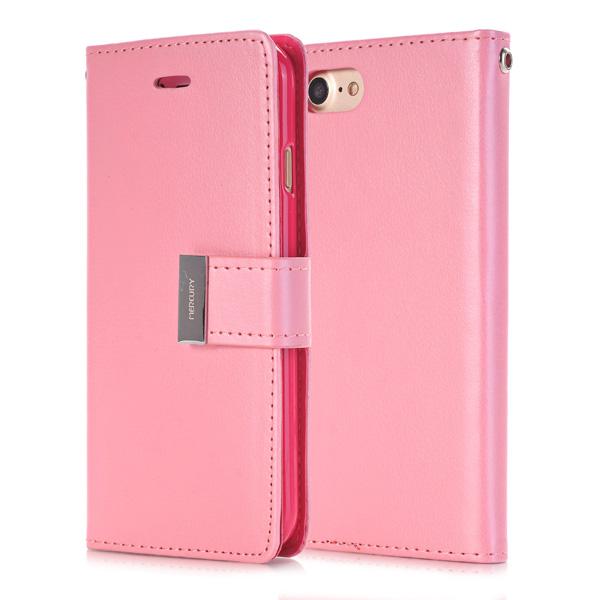 Puzdro pre iPhone 7   8 RICH DIARY svetlo ružové empty 6ac0efdba50