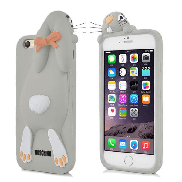 Kryt pre iPhone 7   8 3D králík sivý empty cf83cae5b09