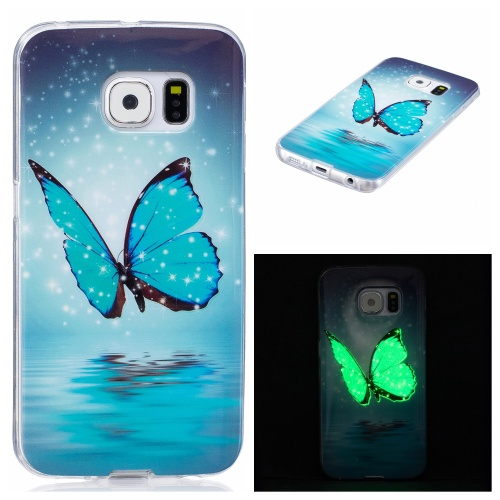 Kryt pre Samsung Galaxy S6 Edge svítící Butterfly with Stars & Snow