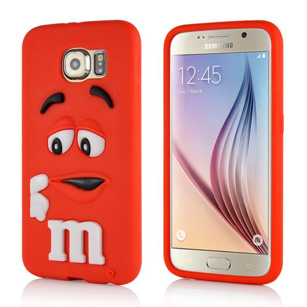 Kryt pre Samsung Galaxy S6 silikonový Cute 3D M M S červený empty fc00f7c7cd0