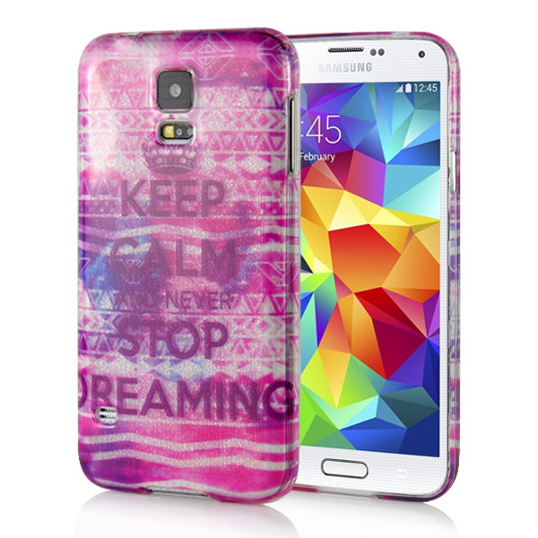 Slicoo Samsung Galaxy S5 kryt Keep Calm And Never Stop Dreaming