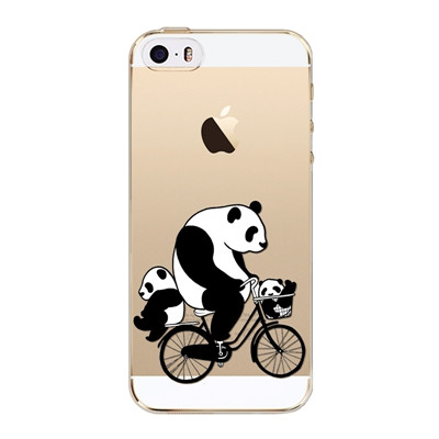 Slicoo iPhone 5 / 5S / SE kryt Pandy na kole