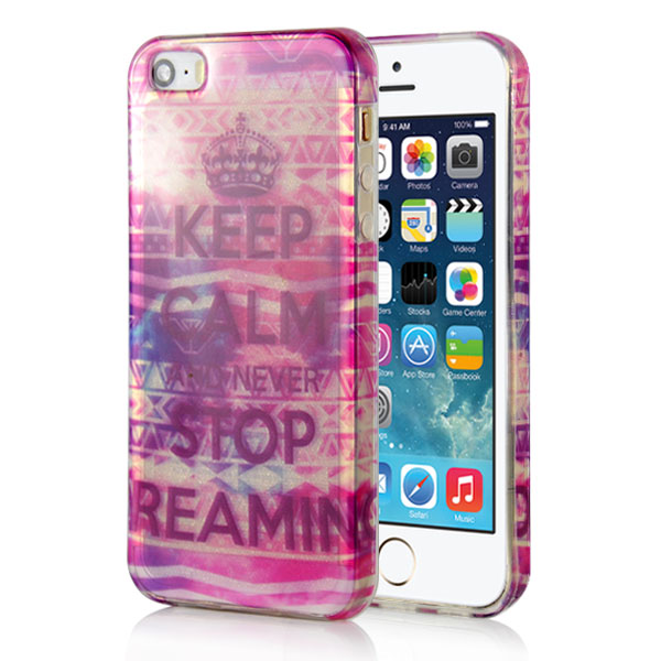 Slicoo iPhone 5   5S   SE kryt Glitter Never Stop empty 4239f0127e0