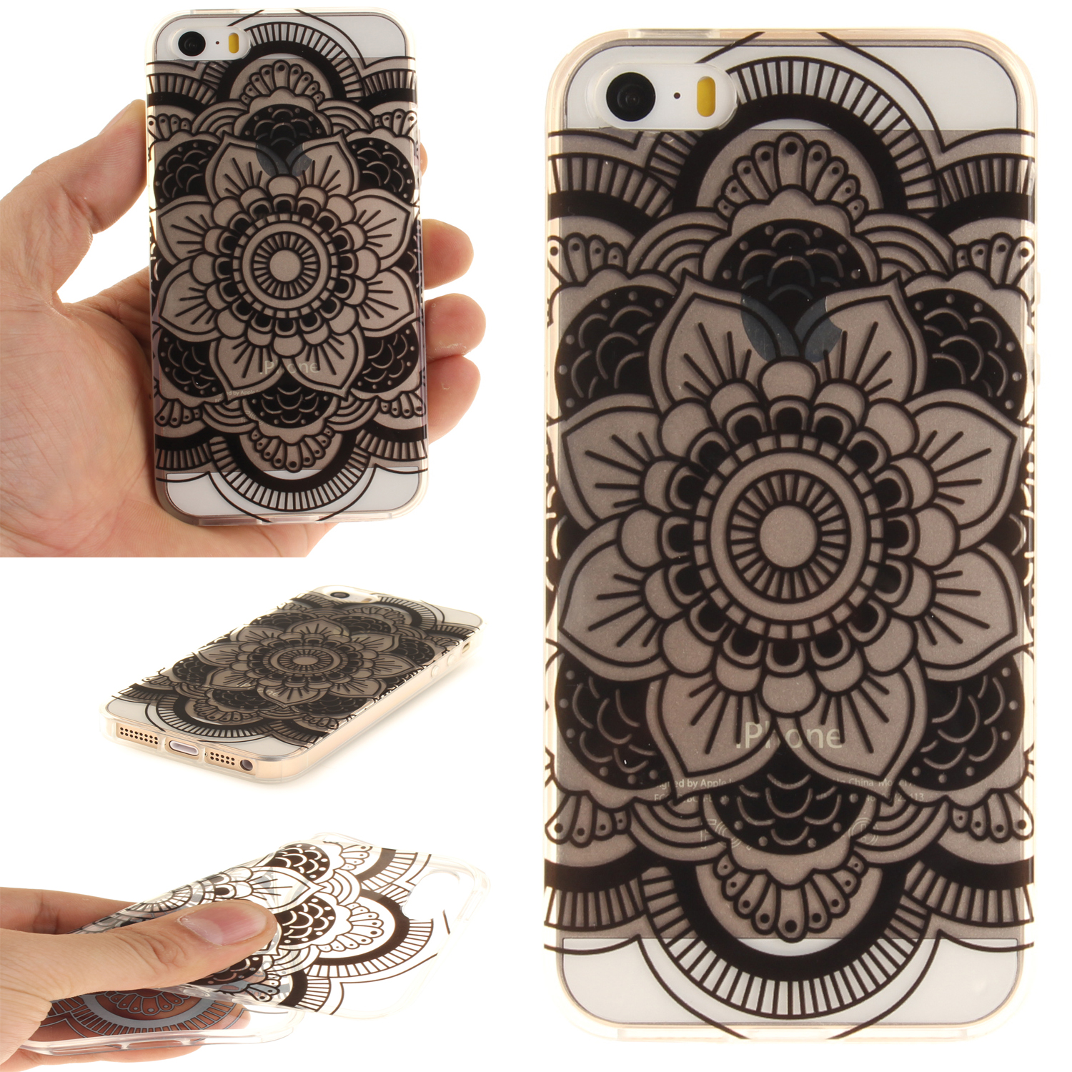 Slicoo iPhone 5 / 5S / SE kryt Dark Flower Pattern