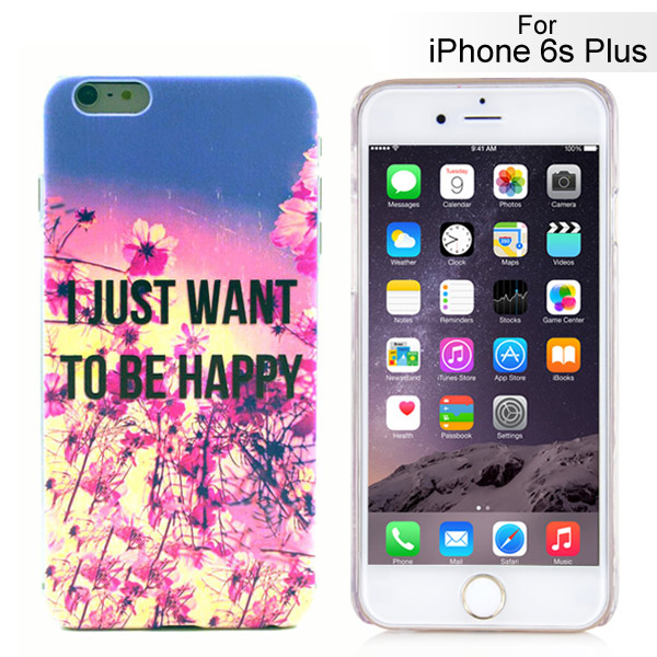 Slicoo iPhone 6 Plus / 6S Plus kryt I Just Want To Be Happy