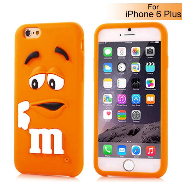 Slicoo iPhone 6 Plus   6S Plus kryt silikonový Cute 3D M M S oranžový empty 1c4ea610141