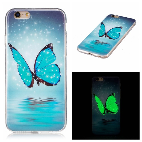 Kryt pre iPhone 6 / 6S svítící Butterfly with Stars & Snow