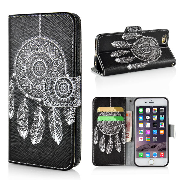 Puzdro pre iPhone 6 / 6S Black White Dreamcatcher