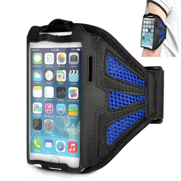 Puzdro pre iPhone 6 / 6S Armband Comfortable modré