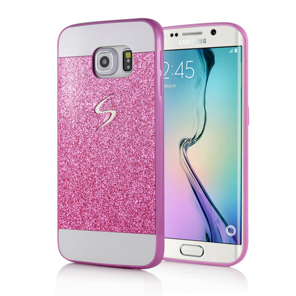 Slicoo Samsung Galaxy S6 Edge Plus kryt Luxury Shiny ružový