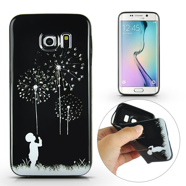 Slicoo Samsung Galaxy S6 Edge Plus kryt Black Dandelion