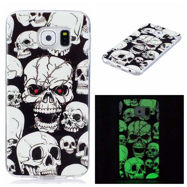 Kryt pre Samsung Galaxy S6 svítící Lebka Creepy Skull empty 33eb2c18bab