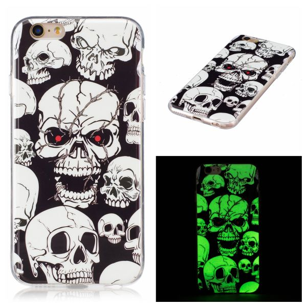Luminous iPhone 6 Plus / 6S Plus kryt svítící Lebka Creepy Skull