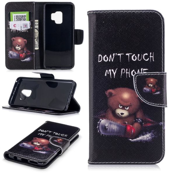 Puzdro pre Samsung Galaxy S9 Don't Touch My Phone Angry Bear