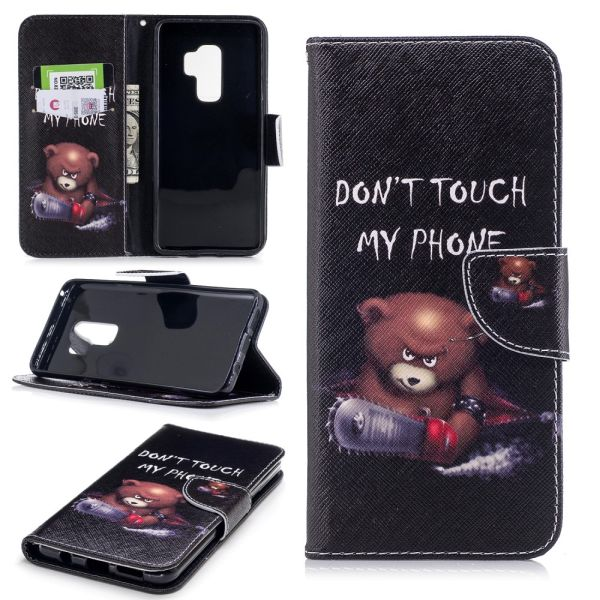 Puzdro pre Samsung Galaxy S9 Plus Don't Touch My Phone Angry Bear