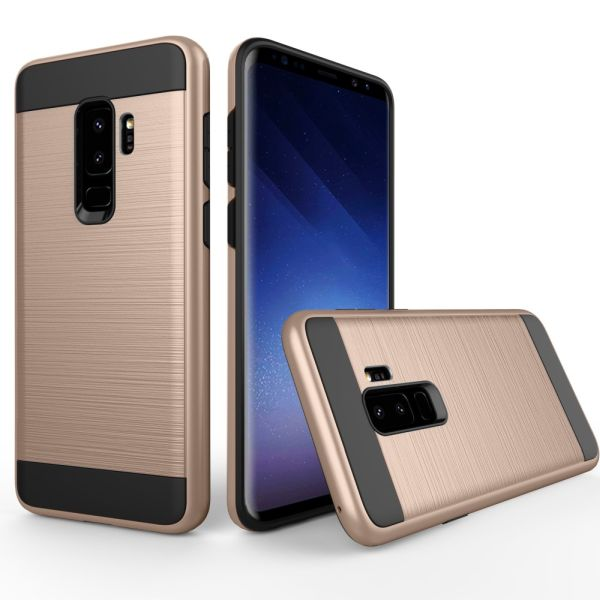 Kryt na Samsung Galaxy S9 Plus Brushed zlatý