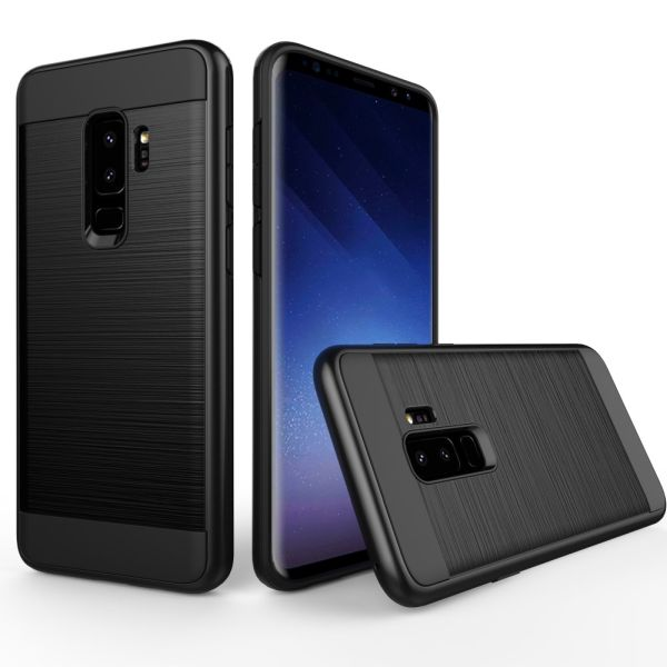 Kryt na Samsung Galaxy S9 Plus Brushed čierny
