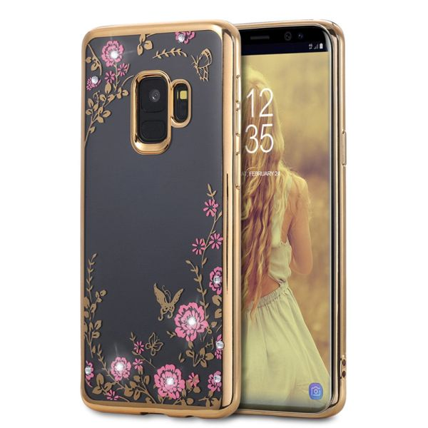 Kryt na Samsung Galaxy S9 Plus diamond zlatý