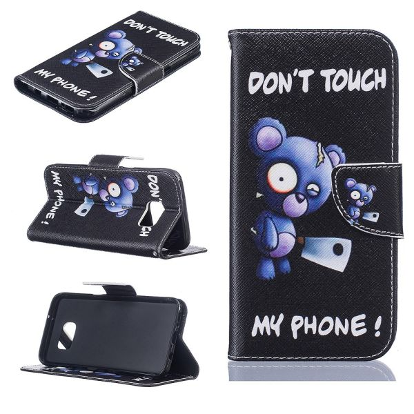 Puzdro na Samsung Galaxy S7 Edge Do Not Touch My Phone medvěd