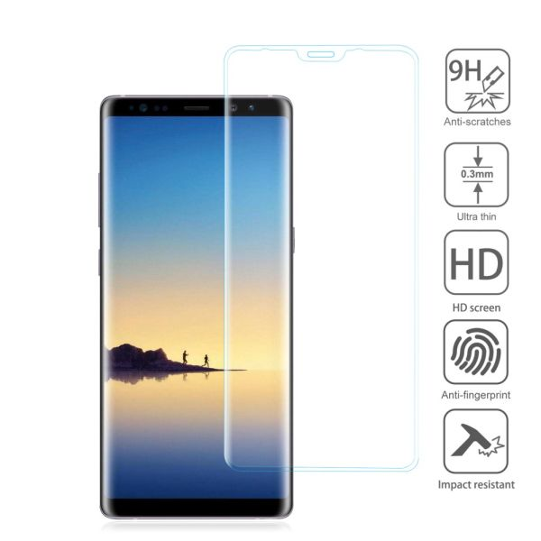 RealGlass Samsung Galaxy Note 8, 9H, 0.3mm, 3D číre