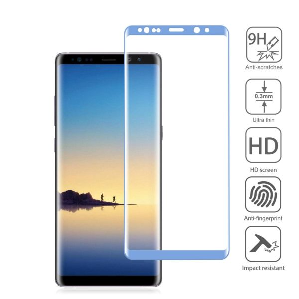 RealGlass Samsung Galaxy Note 8, 9H, 0.3mm, 3D modré
