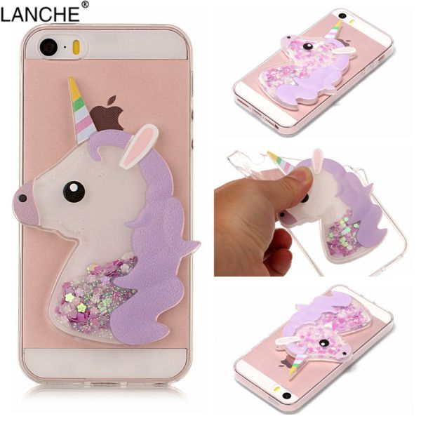 Kryt iPhone 5 / 5S / SE 3D Unicorn fialový