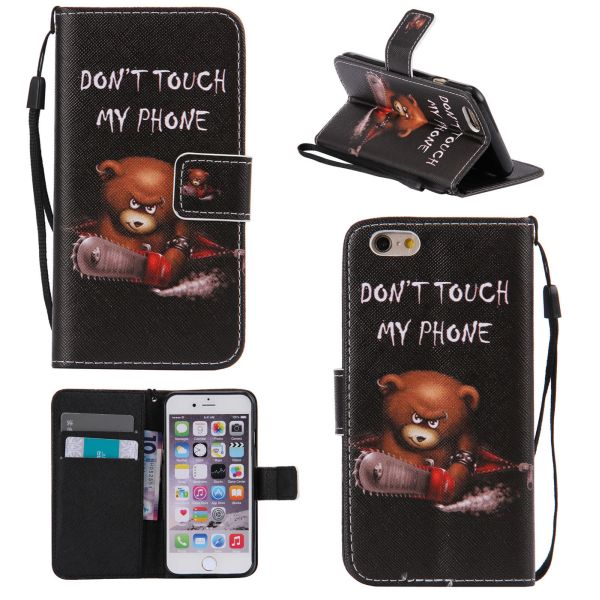 Puzdro pre iPhone 5 / 5S / SE Don't Touch My Phone Angry Bear