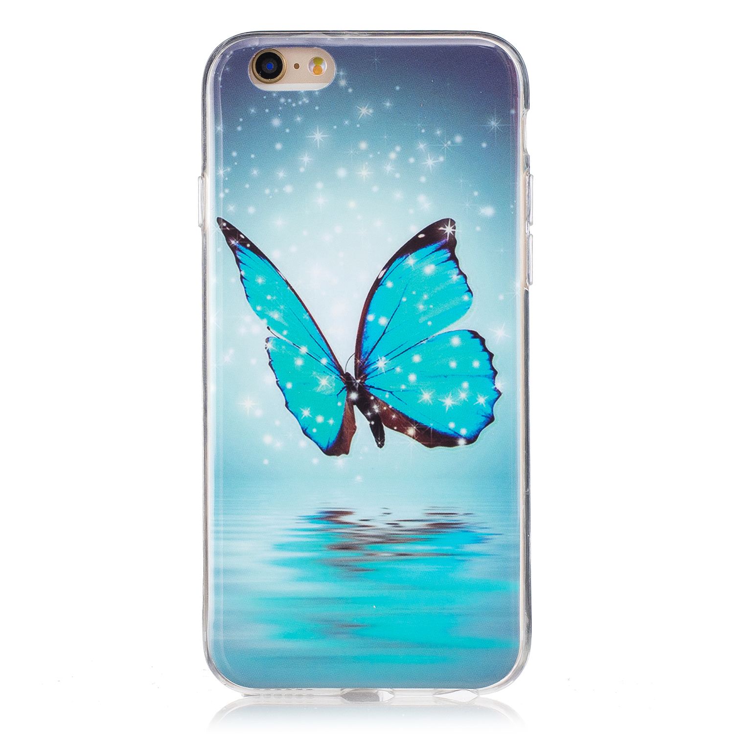 Luminous iPhone 6 Plus / 6S Plus kryt svítící Butterfly with Stars & Snow