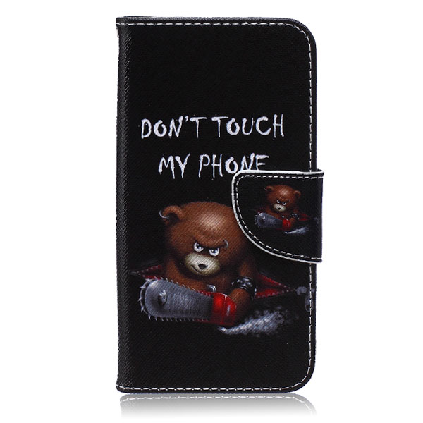 Púzdro pre Samsung Galaxy S7 Edge Don't Touch My Phone Angry Bear
