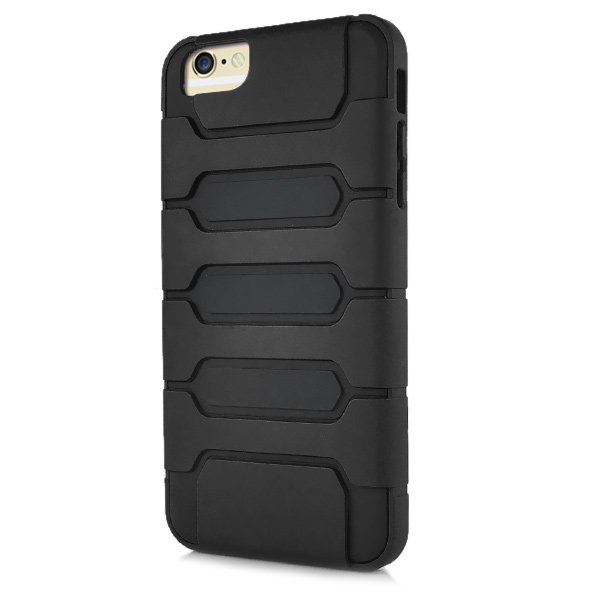 Slicoo iPhone 6 Plus / 6S Plus kryt Tank Design TPU čierny
