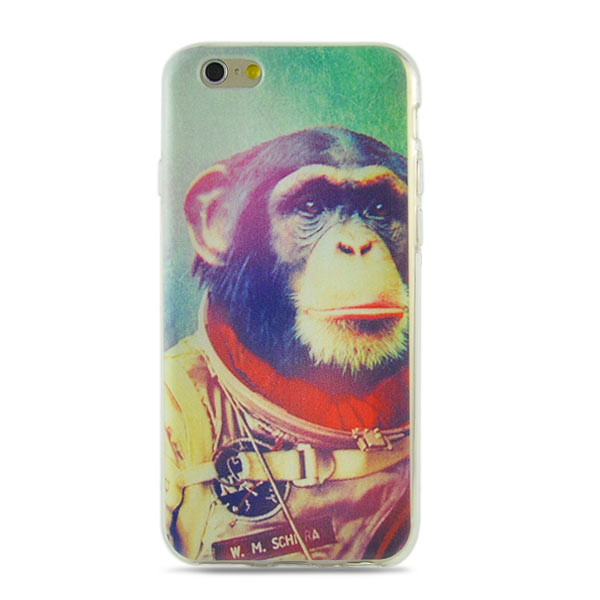 Kryt pre iPhone 6 / 6S Outer Space Chimpanzee TPU