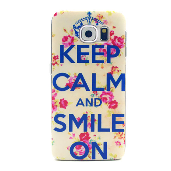 Kryt pre Samsung Galaxy S6 Keep Calm And Smile On