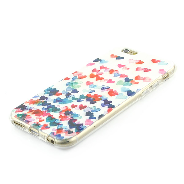 Kryt pre iPhone 6 / 6S Colorful Love Hearts TPU